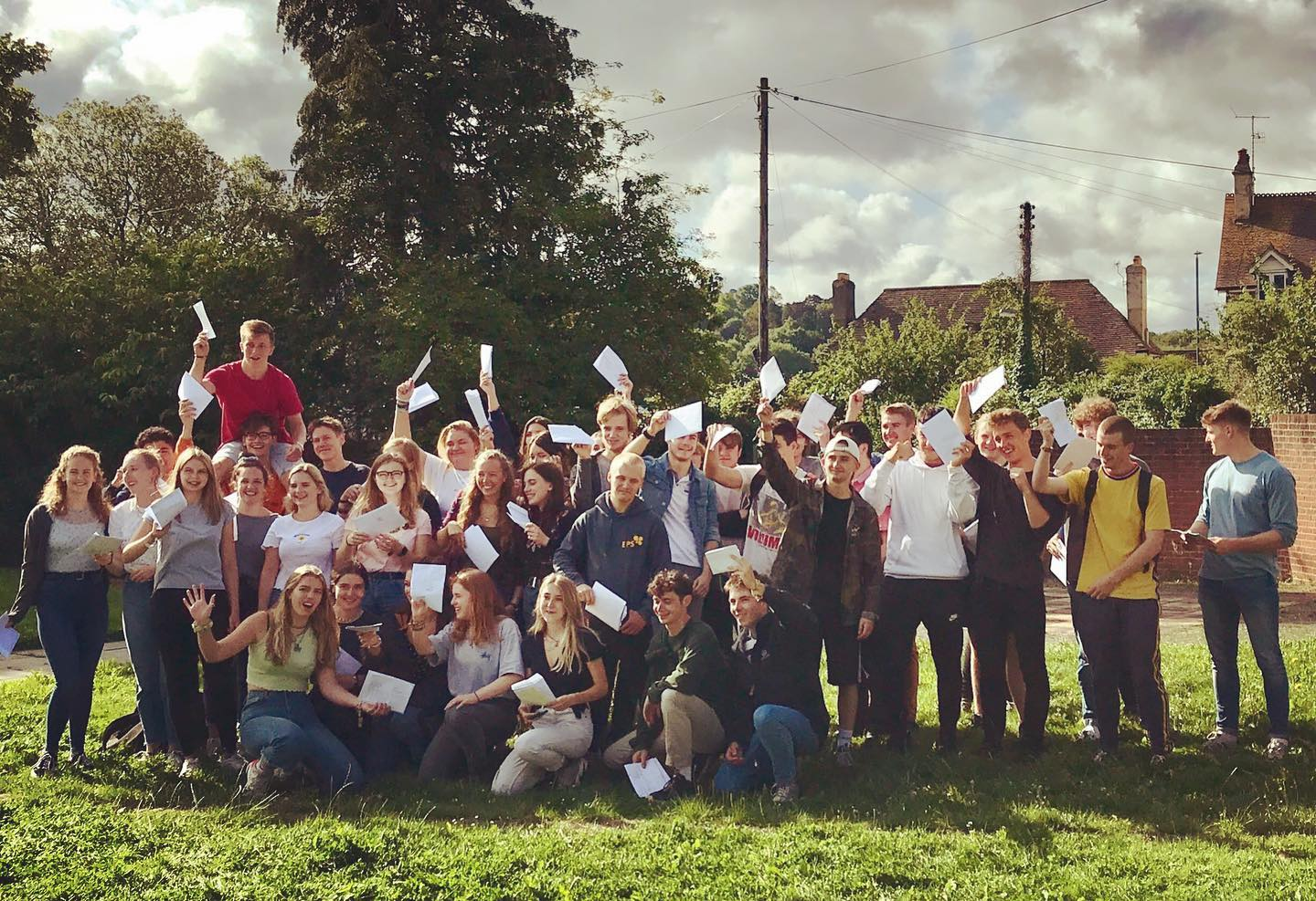 Marling and SHS students celebrate A level results
